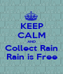 KEEP CALM AND Collect Rain Rain is Free - Personalised Poster A1 size