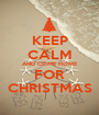 KEEP CALM AND COME HOME FOR CHRISTMAS - Personalised Poster A1 size