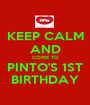 KEEP CALM AND COME TO PINTO'S 1ST BIRTHDAY - Personalised Poster A1 size