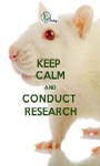 KEEP  CALM AND CONDUCT  RESEARCH - Personalised Poster A1 size