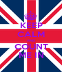 KEEP CALM AND COUNT ME IN - Personalised Poster A1 size