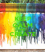 KEEP CALM AND CREATE  - Personalised Poster A1 size