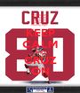 KEEP CALM AND CRUZ ON - Personalised Poster A1 size
