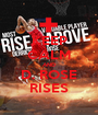 KEEP CALM AND D. ROSE RISES - Personalised Poster A1 size
