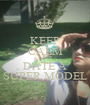 KEEP CALM AND DATE A SUPER MODEL - Personalised Poster A1 size
