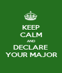 KEEP CALM AND DECLARE  YOUR MAJOR - Personalised Poster A1 size