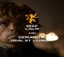 KEEP CALM AND DEMAND A TRIAL BY COMBAT - Personalised Poster A1 size