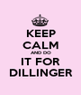 KEEP CALM AND DO IT FOR DILLINGER - Personalised Poster A1 size
