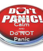 Keep Calm AND Do NOT Panic - Personalised Poster A1 size