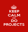 KEEP CALM AND DO PROJECTS - Personalised Poster A1 size