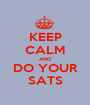 KEEP CALM AND DO YOUR SATS - Personalised Poster A1 size