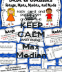 KEEP CALM AND Doing  Max Median - Personalised Poster A1 size