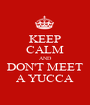 KEEP CALM AND DON'T MEET A YUCCA - Personalised Poster A1 size