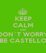 KEEP CALM AND DON´T WORRY BE CASTELLO - Personalised Poster A1 size