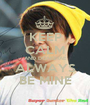 KEEP CALM AND DONGHAE ALWAYS BE MINE - Personalised Poster A1 size