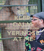 KEEP CALM AND DONT LOOK DOWN  YER NOSE  AT ME - Personalised Poster A1 size