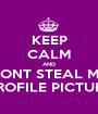 KEEP CALM AND DONT STEAL MY PROFILE PICTURE - Personalised Poster A1 size