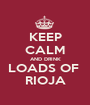 KEEP CALM AND DRINK LOADS OF  RIOJA - Personalised Poster A1 size