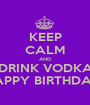 KEEP CALM AND DRINK VODKA HAPPY BIRTHDAY  - Personalised Poster A1 size