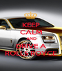 KEEP CALM AND DRIVE A ROLLS ROYCE - Personalised Poster A1 size