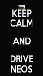 KEEP CALM AND DRIVE NEOS - Personalised Poster A1 size