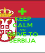 KEEP CALM AND DRIVE TO SERBIJA - Personalised Poster A1 size