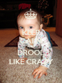 KEEP CALM AND DROOL LIKE CRAZY - Personalised Poster A1 size