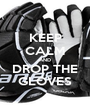 KEEP CALM AND DROP THE GLOVES - Personalised Poster A1 size