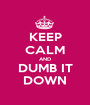 KEEP CALM AND DUMB IT DOWN - Personalised Poster A1 size