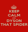KEEP CALM AND DYSON THAT SPIDER - Personalised Poster A1 size
