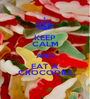 KEEP CALM AND EAT A CROCODILE - Personalised Poster A1 size