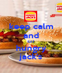 keep calm and EAT hungry jack's - Personalised Poster A1 size