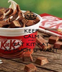 KEEP CALM AND EAT KIT KAT AS MUCH U WANT - Personalised Poster A1 size