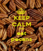KEEP CALM AND eat pecans - Personalised Poster A1 size