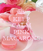 KEEP CALM AND EAT PINK MACARONS - Personalised Poster A1 size