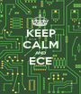 KEEP CALM AND ECE  - Personalised Poster A1 size