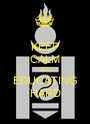 KEEP CALM AND EDUCATING HARD - Personalised Poster A1 size