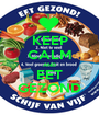 KEEP CALM AND EET GEZOND - Personalised Poster A1 size
