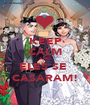 KEEP CALM AND ELES SE  CASARAM! - Personalised Poster A1 size