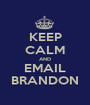 KEEP CALM AND EMAIL BRANDON - Personalised Poster A1 size