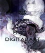 KEEP CALM AND ENJOY  DIGITAL ART - Personalised Poster A1 size
