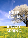 KEEP CALM AND ENJOY SPRING - Personalised Poster A1 size