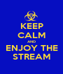KEEP CALM AND ENJOY THE STREAM - Personalised Poster A1 size