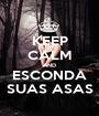 KEEP CALM AND ESCONDA SUAS ASAS - Personalised Poster A1 size