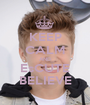 KEEP CALM AND EsCUTE BELIEVE - Personalised Poster A1 size