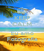 KEEP CALM AND Eu amo Fotografia - Personalised Poster A1 size