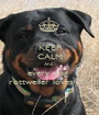 KEEP CALM AND every dog  rottweiler loves you - Personalised Poster A1 size