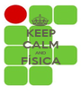 KEEP CALM AND FÍSICA  - Personalised Poster A1 size