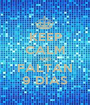 KEEP CALM AND FALTAN 9 DÍAS - Personalised Poster A1 size