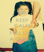 KEEP CALM AND  FEEL LIKE A QUEEN - Personalised Poster A1 size